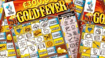 damaged gold fever scratchcards
