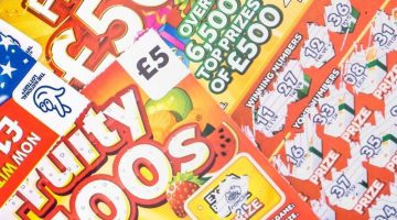 pile of fruity £500s scratchcards