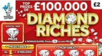 diamond riches scratchcard featured image