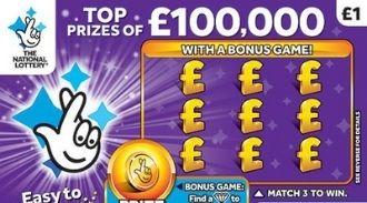 £100,000 purple scratchcard featured image