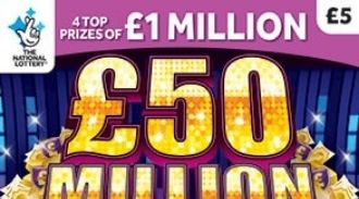 £50 million cash showdown scratchcard featured image