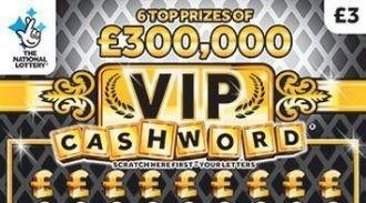 VIP cashword black scratchcard featured image