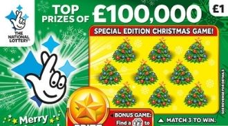 £100,000 Christmas 2019 scratchcard featured image