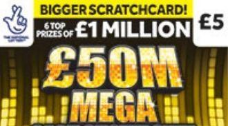 £50 M Mega Cash Showdown scratchcard featured image