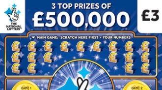 £500,000 Bonus Blue scratchcard featured image