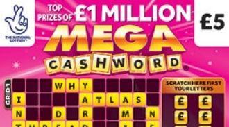 Mega Cashword Pink Scratchcard featured image