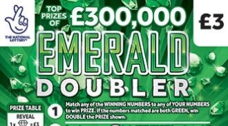 emerald double Scratchcard featured image