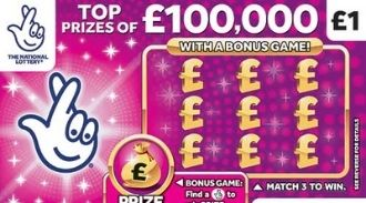£100,000 Pink scratchcard featured image