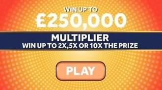 £250,000 Multiplier Orange Online Scratchcard thumbnail