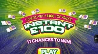 Instant £100 Online Scratchcard thumbnail