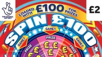 Spin £100 Scratchcard thumbnail