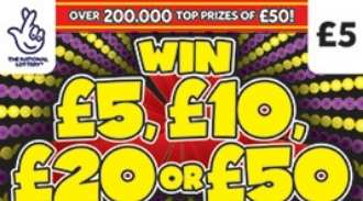 Win £5, £10, £20 or £50 Scratchcard thumbnail