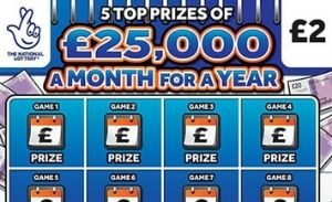 £25,000 a Month For a Year Scratchcard Featured Image