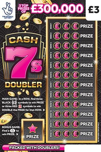 cash 7s doubler scratchcard