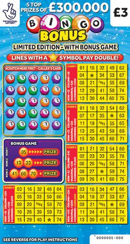 bingo bonus scratchcard