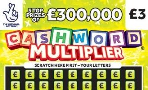 cashword multiplier yellow Scratchcard Featured Image