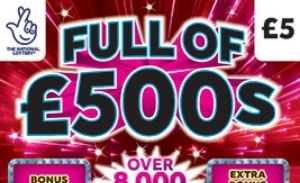 full of £500s 2021 Scratchcard Featured Image