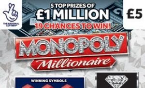 monopoly millioniare 2021 Scratchcard Featured Image