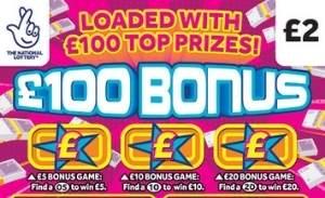 £100 Bonus 2021 Scratchcard Featured Image