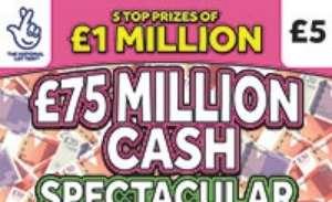 £75 Million Cash Spectacular Scratchcard Featured Image