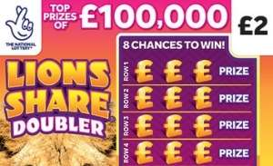 Lions Share Doubler Scratchcard Featured Image