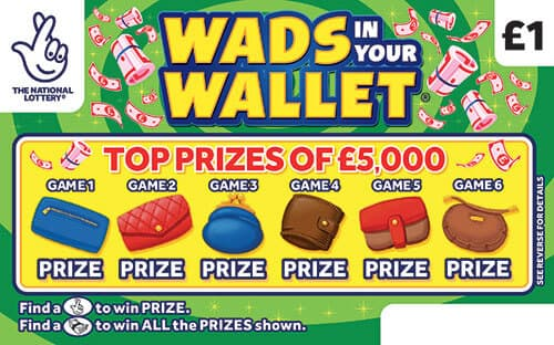 wads in your wallet scratchcard