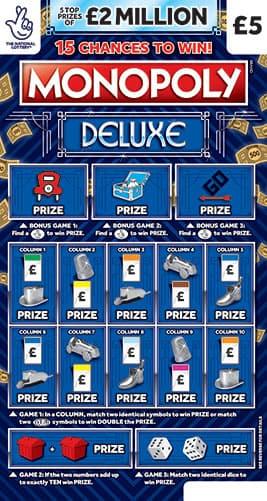 monopoly deluxe scratchcard
