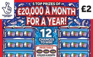 £20,000 a month for a year christmas Scratchcard Featured Image