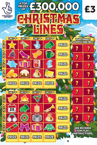 christmas lines national lottery scratchcard